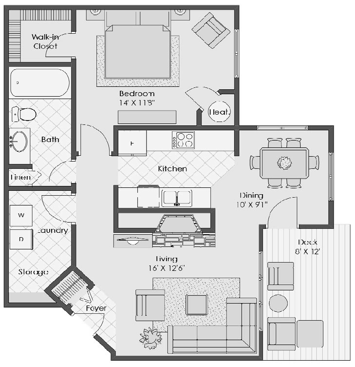 Biltmore Floor Plan Brookstone Apartments
